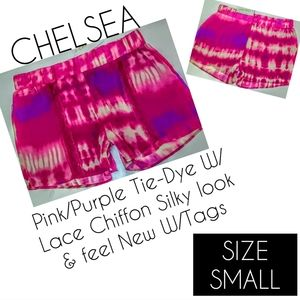 Chelsea Shorts Size S Pink Lace NWT